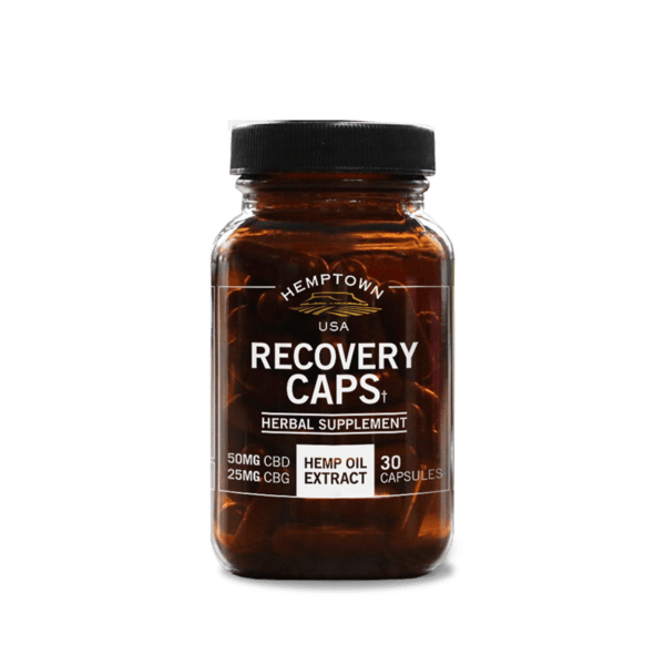 Recovery Caps with CBD & CBG - Buy CBG (Cannabigerol) Oil and Hemp Oil Products