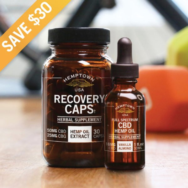 Recovery Caps and CBD Tincture Bundle - Buy CBG (Cannabigerol) Oil and Hemp Oil Products